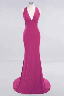 Elegant Mermaid Halter Pool Bridesmaid Dress Online_8
