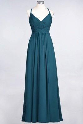 Chiffon A-Line Spaghetti-Straps V-Neck Sleeveless Long Bridesmaid Dress with Ruffles_26