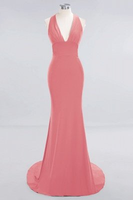 Elegant Mermaid Halter Pool Bridesmaid Dress Online_6