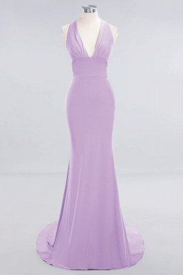 Elegant Mermaid Halter Pool Bridesmaid Dress Online_18