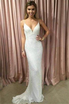 Mermaid Glamorous Spaghetti-Strpas Sleeveless Prom Dresses_1