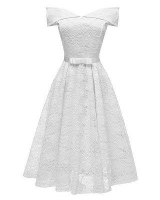 Vestido retro de encaje sin mangas elegante Cóctel Gorra manga del vestido A Line Vestido vintage_1