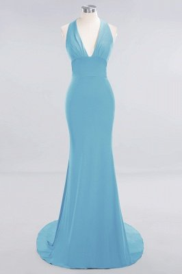 Elegant Mermaid Halter Pool Bridesmaid Dress Online_21