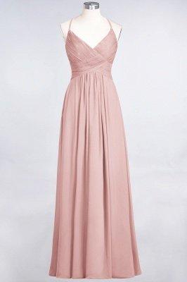 Chiffon A-Line Spaghetti-Straps V-Neck Sleeveless Long Bridesmaid Dress with Ruffles_6