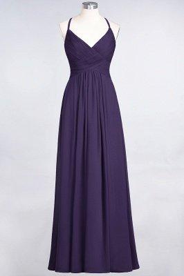 Chiffon A-Line Spaghetti-Straps V-Neck Sleeveless Long Bridesmaid Dress with Ruffles_18