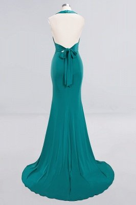 Elegant Mermaid Halter Pool Bridesmaid Dress Online_40