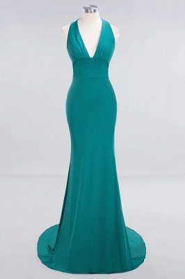 Elegant Mermaid Halter Pool Bridesmaid Dress Online_28