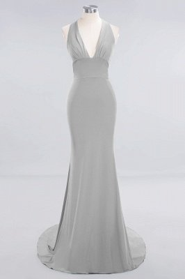 Elegant Mermaid Halter Pool Bridesmaid Dress Online_26