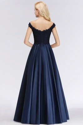 Elegant Off-the-Shoulder Ruffles Beads Sleeveless Bridesmaid Dresses_3