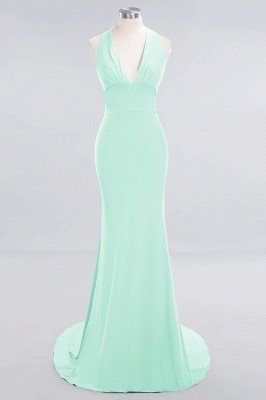 Elegant Mermaid Halter Pool Bridesmaid Dress Online_30