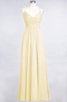 Chiffon A-Line Spaghetti-Straps V-Neck Sleeveless Long Bridesmaid Dress with Ruffles_17