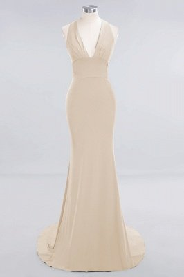 Elegant Mermaid Halter Pool Bridesmaid Dress Online_13