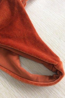 Velvet Triangle Pads Maillots De Bain Taille Haute Bikini_8