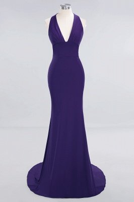 Elegant Mermaid Halter Pool Bridesmaid Dress Online_17