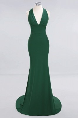Elegant Mermaid Halter Pool Bridesmaid Dress Online_27