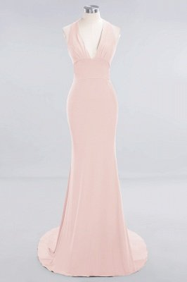 Elegant Mermaid Halter Pool Bridesmaid Dress Online_5