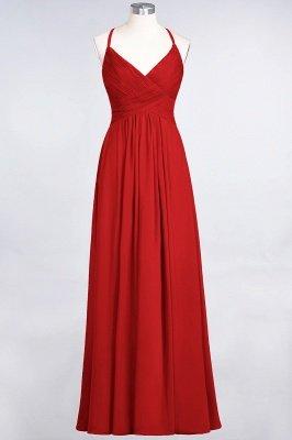 Chiffon A-Line Spaghetti-Straps V-Neck Sleeveless Long Bridesmaid Dress with Ruffles_8