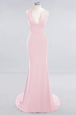 Elegant Mermaid Halter Pool Bridesmaid Dress Online_3