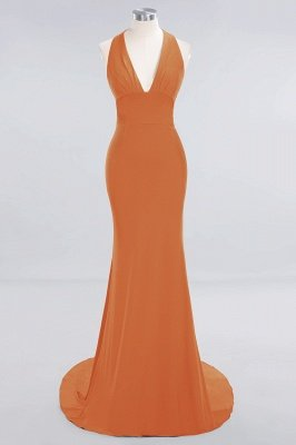 Elegant Mermaid Halter Pool Bridesmaid Dress Online_14