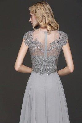 Crystal Appliques Sweetheart Side Slit Prom Dresses | Backless Capsleeves Evening Dresses_4
