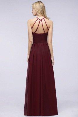 A-Line Chiffon Neckholder Braujungfer Kleid   Bodenlanges Brautjungfernkleid Online Kaufen_2