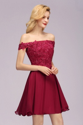 Maggie | Elegant Lace Off-the-Shoulder Short Bridesmaid Dress_5