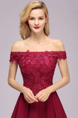 Maggie | Elegant Lace Off-the-Shoulder Short Bridesmaid Dress_6