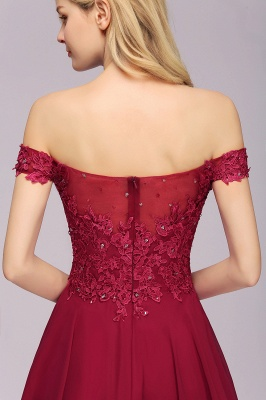 Maggie | Elegant Lace Off-the-Shoulder Short Bridesmaid Dress_8