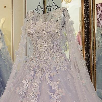 Lila Abendkleider Quinceañera Kleider | Wunderschöne Abendkleider Spitze und Tüll_3