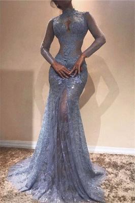 Великолепное платье с кружевным кружевным вышивкой | Платье выпускного вечера с длинным рукавом_2