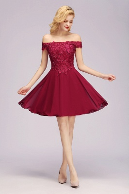 Maggie | Elegant Lace Off-the-Shoulder Short Bridesmaid Dress_3
