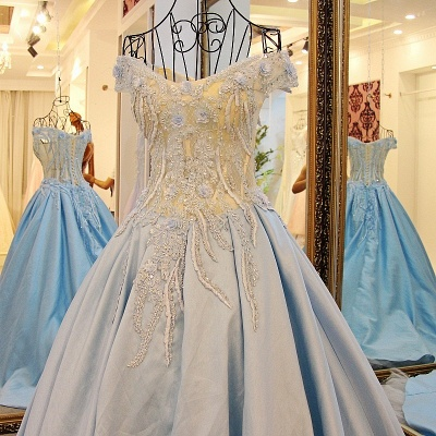 Exquisite Sweetheart Sleeveless Appliques Sweep Train Quinceanera Dresses_1