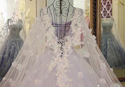 Lila Abendkleider Quinceañera Kleider | Wunderschöne Abendkleider Spitze und Tüll_4