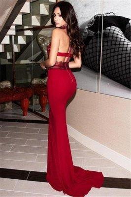 Glamorous High-Neck Sleeveless Backless Mermaid Prom Dresses_2