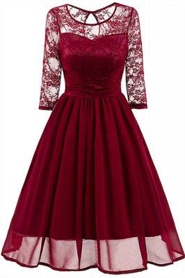 Elegant Womans Chiffon Lace Dress Brand Ladies Girl Prom Dresses_1