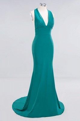 Elegant Mermaid Halter Pool Bridesmaid Dress Online_41
