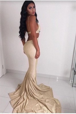 Sexy Chic Spaghett-Straps Sleeveless Mermaid Prom Dresses