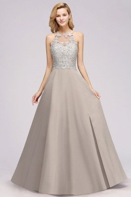 Mamie | Exquisite Lace Sleeveless Slit Cheap Bridesmaid Dress