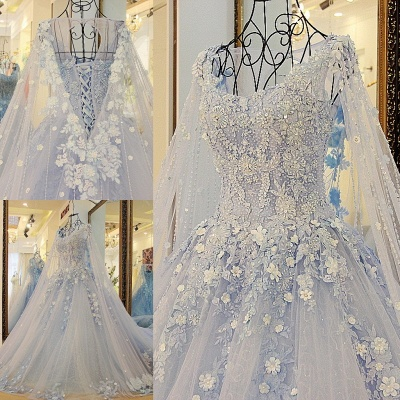 Stylish Straps Sleeveless Flowers Beadings Quinceanera Dress