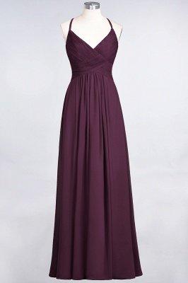 Chiffon A-Line Spaghetti-Straps V-Neck Sleeveless Long Bridesmaid Dress with Ruffles_19