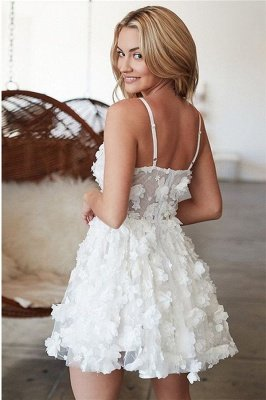 Flowers Spaghetti-Straps Homecoming Dress_2