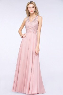 Mandy | Trendy Illusion Lace Sleeveless Cheap Bridesmaid Dress