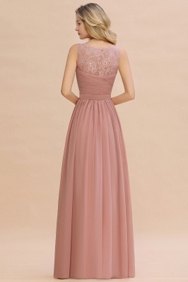 Beautiful V-neck Long Evening Dresses with soft Pleats | Sexy Sleeveless V-back Dusty Pink Womens Dress for Prom_9