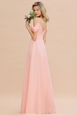 Spaghetti Straps Sweetheart Ruffles Bridesmaid Dress | Evening Dresses Online_7