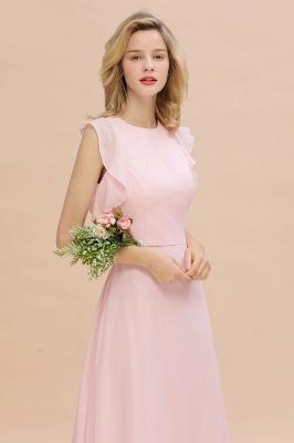 Einfache Brautjungfer Kleider Chiffon | Schlichte Brautjungfer Kleider A-Linie_7