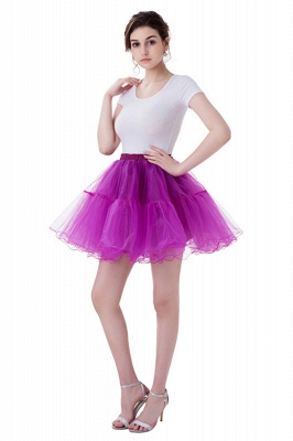 Brilliant Tulle Mini Short A-line Skirts | Elastic Women's Skirts_9