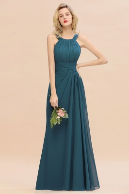 KENDALL  | Sexy A-Line Sleeveless Floor Length Ruffles Chiffon Bridesmaid Dresses Cheap Online_9