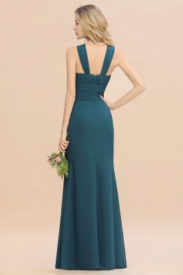 KENDALL  | Sexy A-Line Sleeveless Floor Length Ruffles Chiffon Bridesmaid Dresses Cheap Online_3