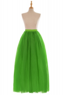 Glamorous A-line Floor-Length Skirt | Elastic Women's Skirts_17