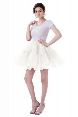 Brilliant Tulle Mini Short A-line Skirts | Elastic Women's Skirts_1